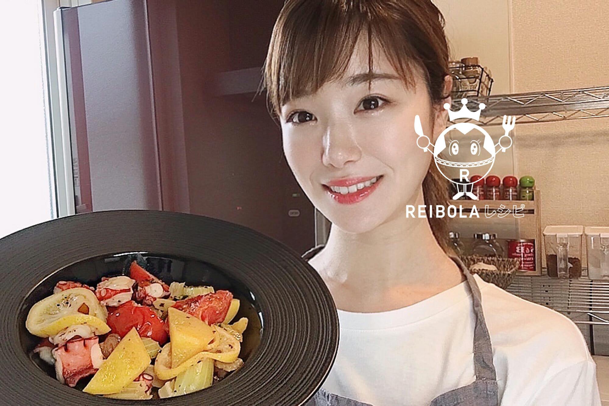 タコと夏野菜のガーリックレモン炒め/栄養士 丹羽真梨菜
