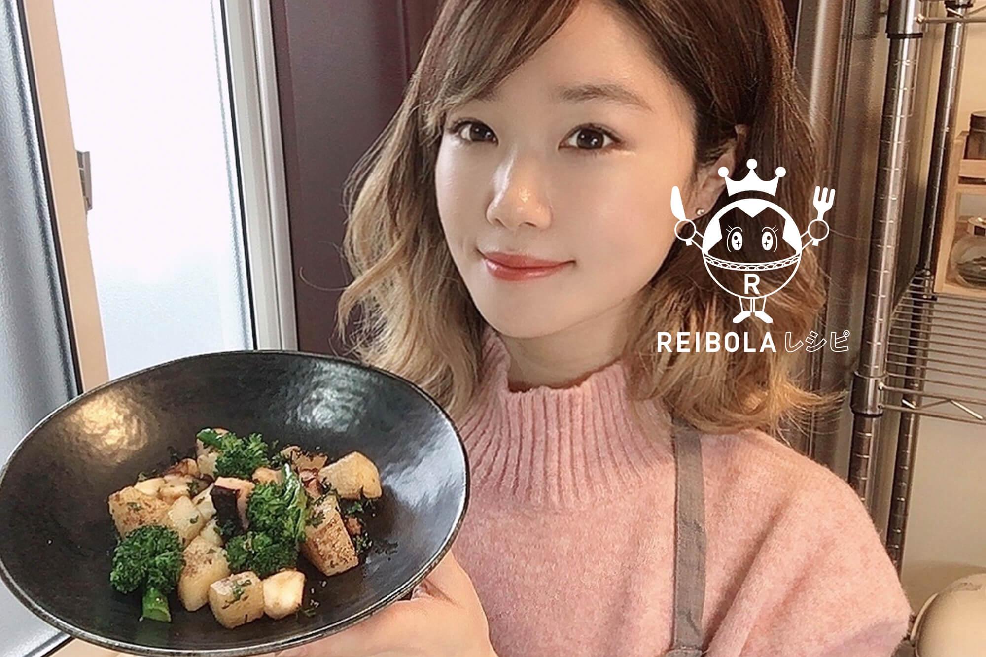 たこと長芋のガーリック炒め/栄養士 丹羽真梨菜